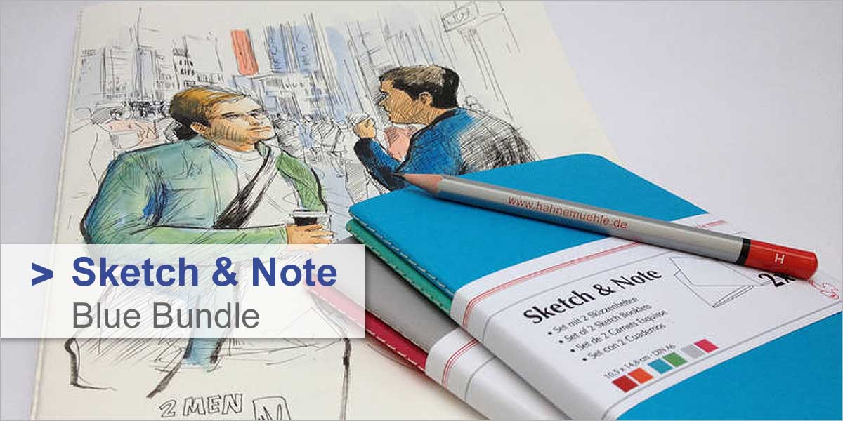 Skizzenheft Sketch & Note - 2er Set Blue Bundle
