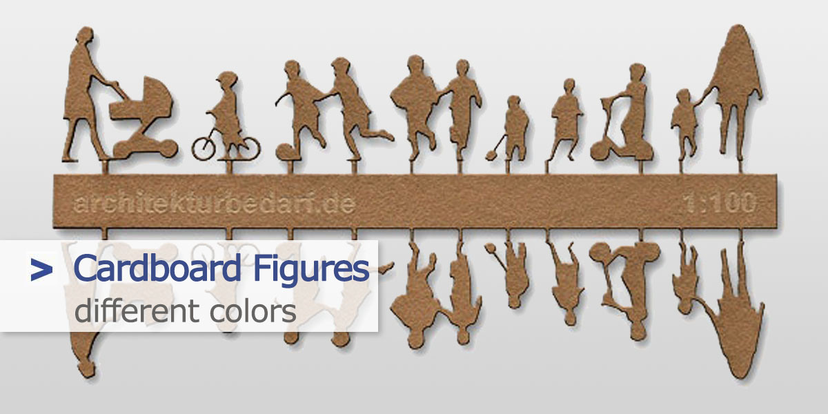 Cardboard Figures 1:100