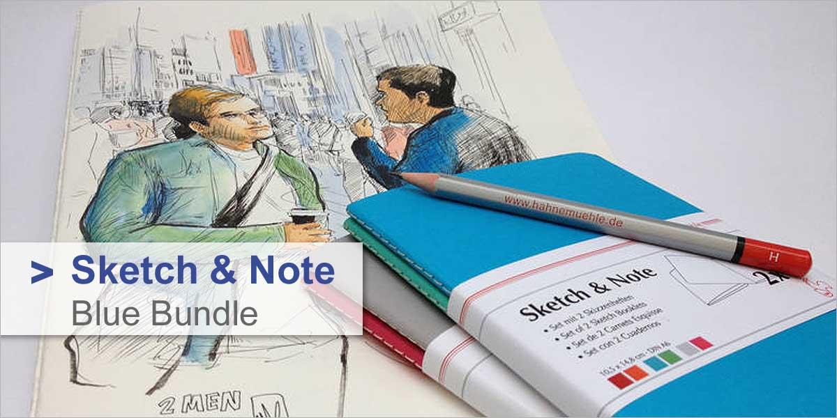 Skizzenheft Sketch & Note - 2er Set Blue Bundle