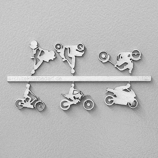 6 Stück weiß aus Laserkarton Fahrräder 1:100 0,49€//Stück