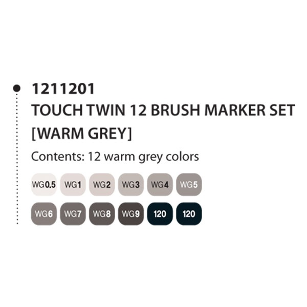 Touch Twin Marker Brush WG5 Layoutmarker Warm Grey