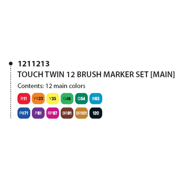 Touch Twin Marker Brush 120 Layoutmarker Black
