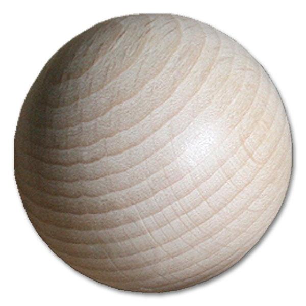 Holzkugel Buche 50,0 mm halbgebohrt 1 Stück
