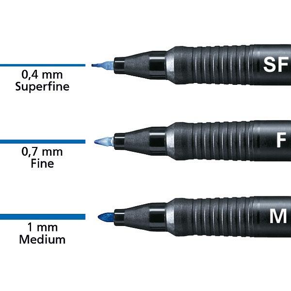 Folienstift schwarz DE wasserlöslich fein-10er Pack STABILO OHPen universal