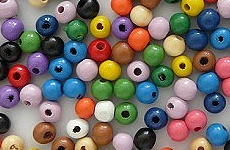 Wooden Beads Colored