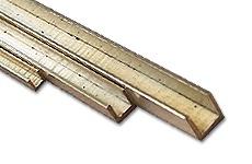 Brass U-Profiles isosceles