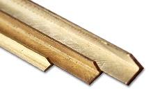 Brass L-Profiles isosceles