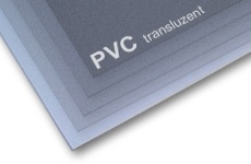 PVC transluzent antireflex