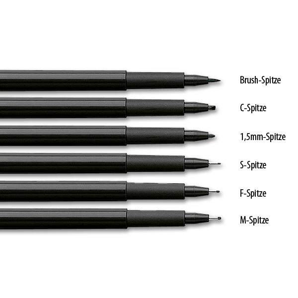 1,5mm-Spitze Artist Pen 294 green metallic Faber-Castell 167394