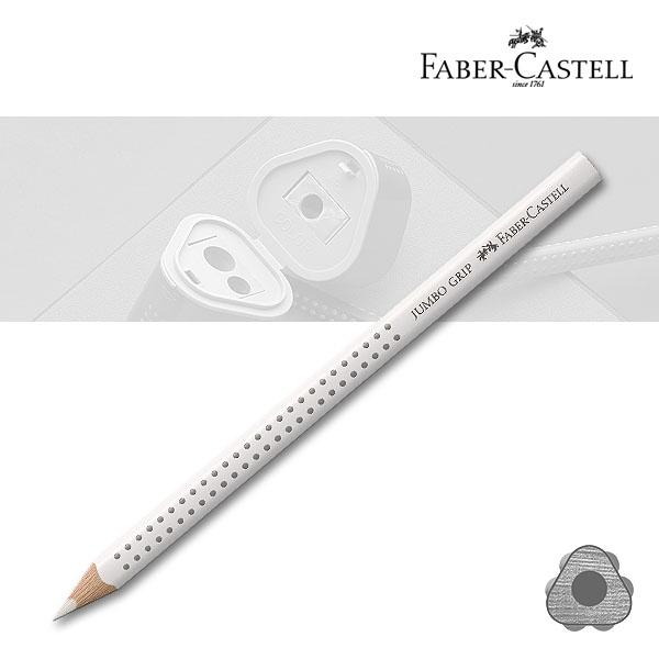 Farbstift Jumbo Grip - 101 weiß Faber-Castell  Dreikantfarbstift