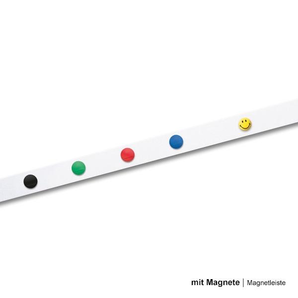 Magnetoplan Küchen Magnetleiste mit 6 Magneten 100x5 cm 1m selbstklebend