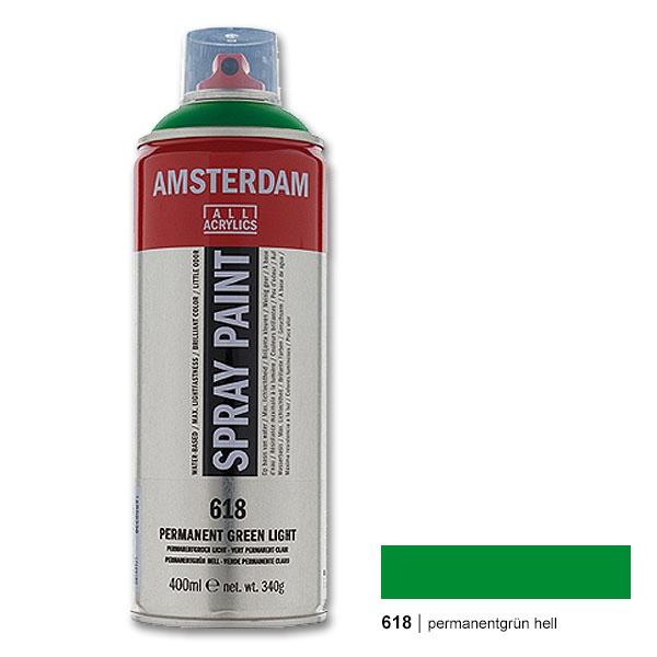 Amsterdam Spray Paint 618 Permanent Green Light 400 Ml Water Based Spray Paint