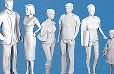 Figuren aus Polystyrol