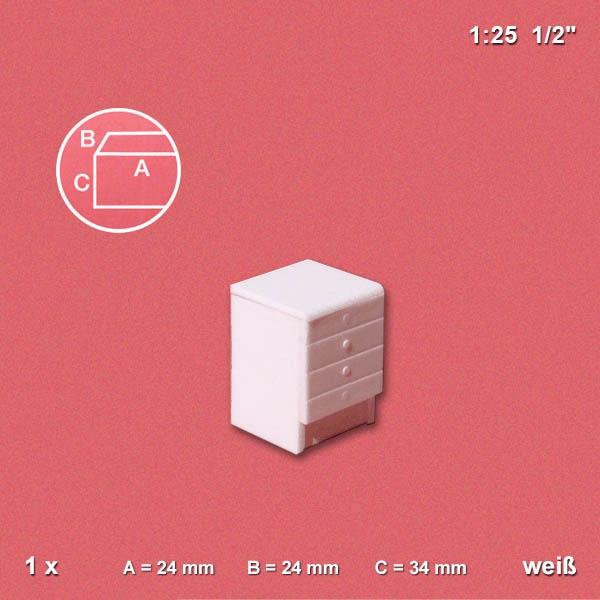 Unterschrank für Küche 1:25, weiß, mit Schubladen - jetzt kaufen bei ...