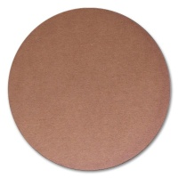 Circular Corrugated Board, brown, punched