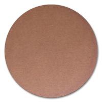 Kreisrunde Wellpappenplatte braun gestanzt