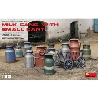 Milk Cans with Cart, Scale 1:35