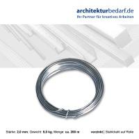 Stahldraht auf Rolle 2,0 mm