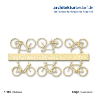 Fahrräder, 1:100, beige