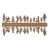 Figure Set Children, 1:100, light brown