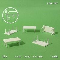 Tisch 1:50 mit 4 Beinen, 10er Pack