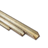 Brass U-Profile isosceles 1,0 x 1,0 mm