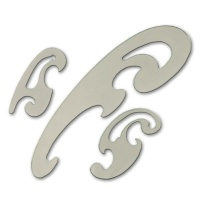 Burmester Kurvensatz transparent grau