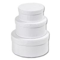 Schachteln aus weißem Karton, rund