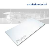 Polystyrolplatte weiß
