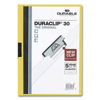 Clip Folder Duraclip 30 - A4 yellow