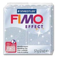 Fimo Effect Glitter Colour 812 silver