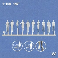 3D Figures 1:100 standing, white