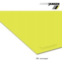 Tonzeichenpapier 130g/m² DIN A4, 13 zitronengelb