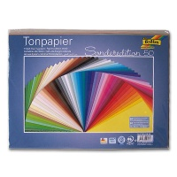 Colored Paper 130 g/m² DIN 25 x 35 cm, assorted colors