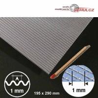 Streckwelle, Aluminium, Raute 1 mm