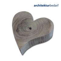 Holzherz aus Eiche Massivholz 7,5 cm