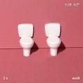 Toilet with Tank 1:25, white, 2 pcs.