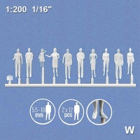 3D Figures 1:200 standing, white