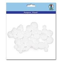 Pompons, Plush, white