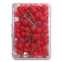 Map Pins 6 mm red