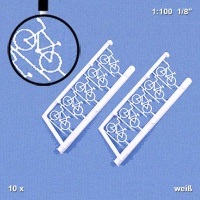 Bicycles 1:100, white, Pack of 10