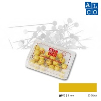 Alco Landkartennadeln 8 mm gelb
