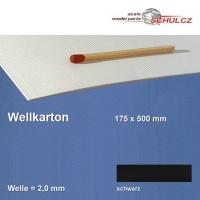 Wellkarton, schwarz 2 mm Welle