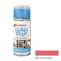 Humbrol Acrylic Spray, Glass Effect, red