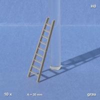 Scaling Ladder, grey, 1:87