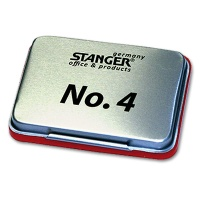 Stamp Pad in Metal Case, red