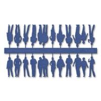 Figuren, 1:100, blau