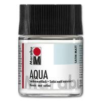 Aqua-Seidenmattlack 50 ml Glas