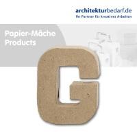 Buchstabe Papier-Mâché - G