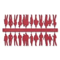 Figures, 1:100, red